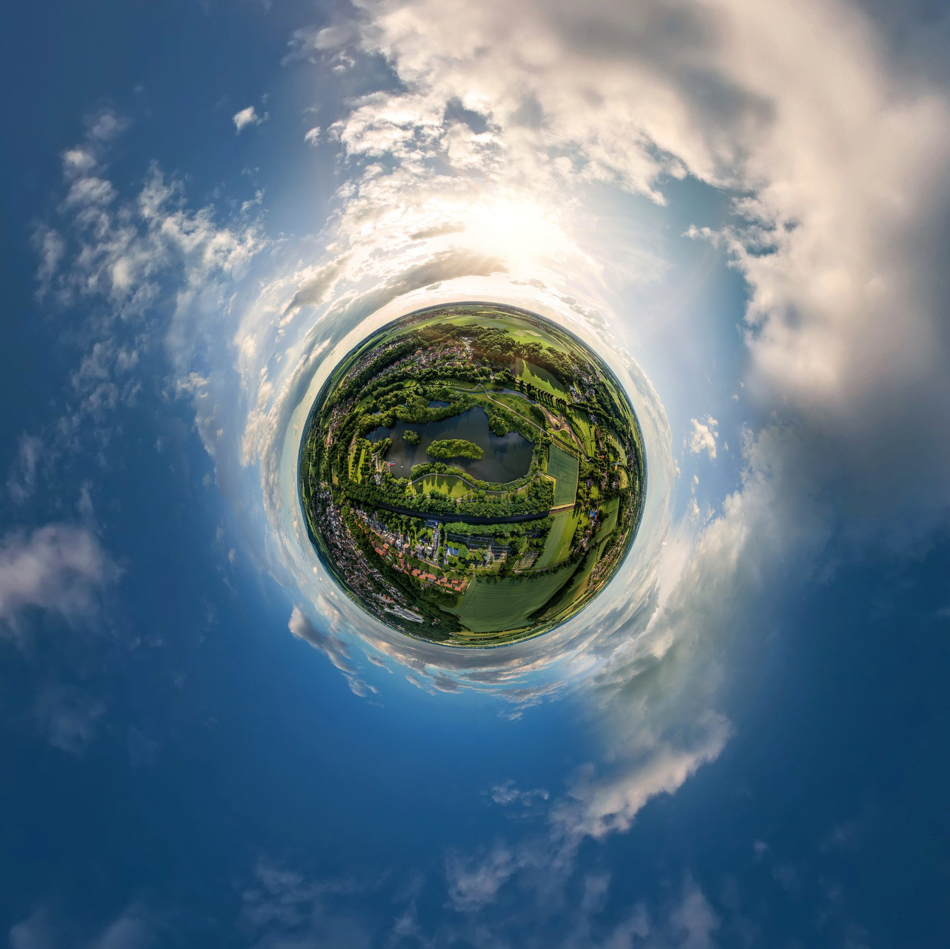 little planet drone aachen