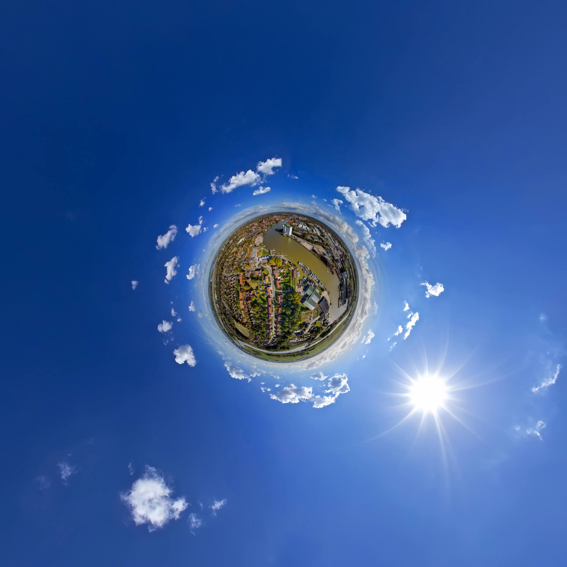 little planet drone ostfriesland